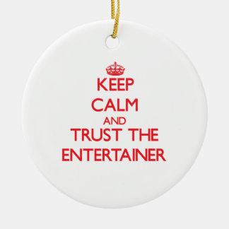Guarde la calma y confíe en al actor ornamento para reyes magos