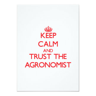 Guarde la calma y confíe en al agrónomo invitaciones personales