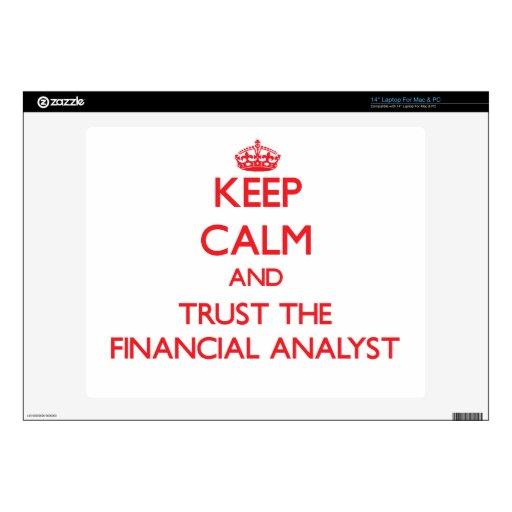 Guarde la calma y confíe en al analista financiero skins para portátiles