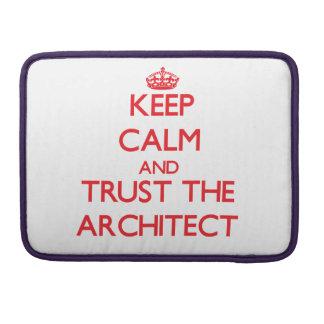 Guarde la calma y confíe en al arquitecto fundas macbook pro