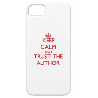 Guarde la calma y confíe en al autor iPhone 5 carcasa