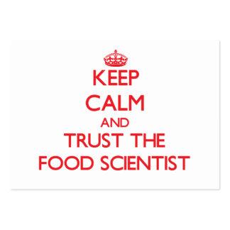 Guarde la calma y confíe en al científico de la co plantillas de tarjeta de negocio