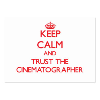 Guarde la calma y confíe en al cinematógrafo tarjetas de visita