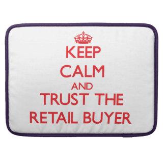 Guarde la calma y confíe en al comprador al por me fundas para macbooks