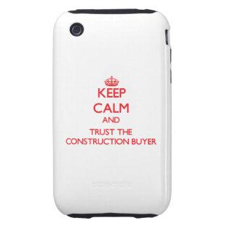 Guarde la calma y confíe en al comprador de la con iPhone 3 tough protector