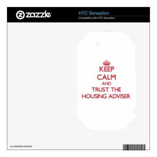 Guarde la calma y confíe en al consejero de la viv skins para HTC sensation