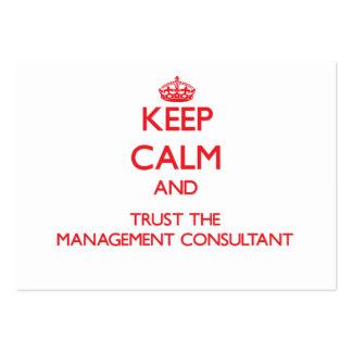 Guarde la calma y confíe en al consultor en admini tarjetas de negocios
