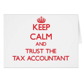 Guarde la calma y confíe en al contable del impues tarjeton