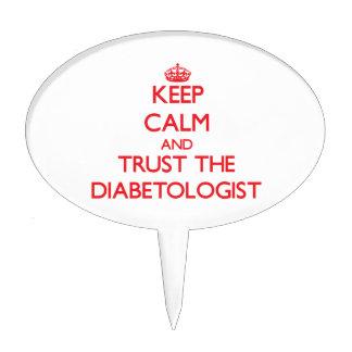 Guarde la calma y confíe en al Diabetologist Decoraciones Para Tartas