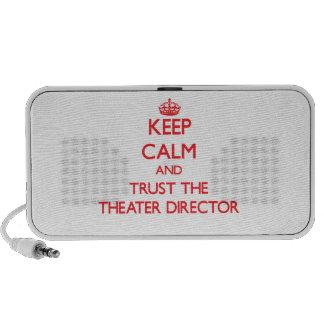 Guarde la calma y confíe en al director del teatro mini altavoz