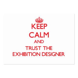 Guarde la calma y confíe en al diseñador de la exp tarjeta de visita
