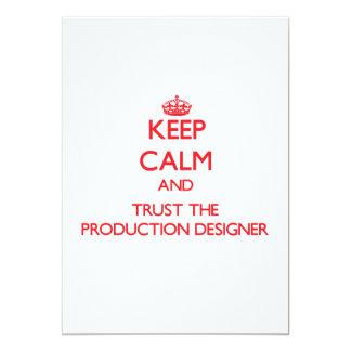 """Guarde la calma y confíe en al diseñador de la invitación 5"""" x 7"""""""