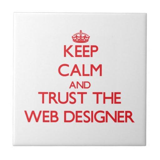 Guarde la calma y confíe en al diseñador del Web Azulejos Cerámicos