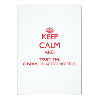 Guarde la calma y confíe en al doctor de la comunicado personal