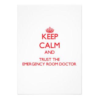 Guarde la calma y confíe en al doctor de la sala d anuncios personalizados