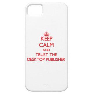 Guarde la calma y confíe en al editor de iPhone 5 funda