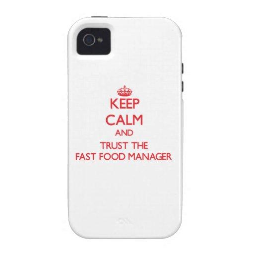 Guarde la calma y confíe en al encargado de los al Case-Mate iPhone 4 carcasa