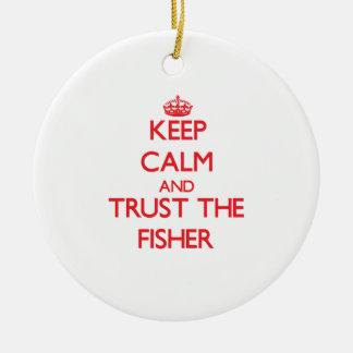 Guarde la calma y confíe en al Fisher Ornamentos Para Reyes Magos