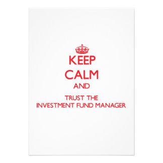 Guarde la calma y confíe en al gestor de fondos de comunicado