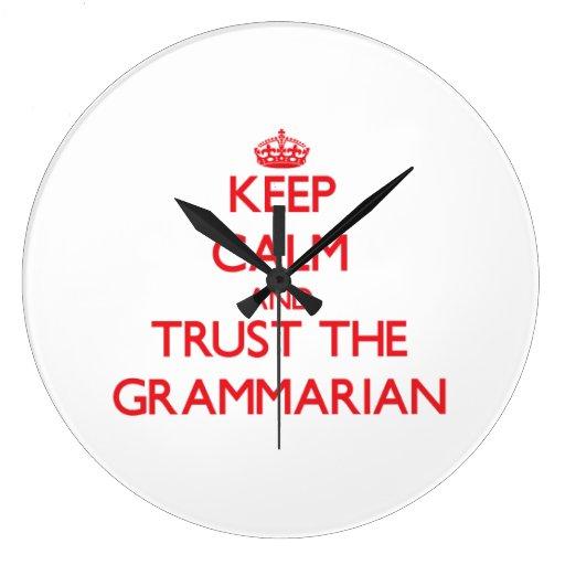 Guarde la calma y confíe en al gramático relojes