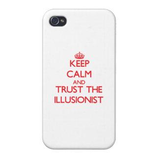 Guarde la calma y confíe en al ilusionista iPhone 4/4S funda