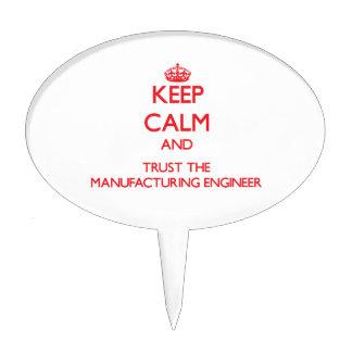 Guarde la calma y confíe en al ingeniero de fabric figuras para tartas