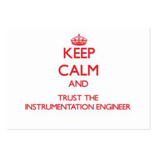 Guarde la calma y confíe en al ingeniero de la ins tarjeta de visita