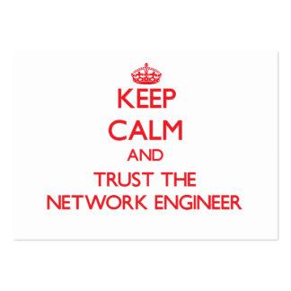 Guarde la calma y confíe en al ingeniero de la red tarjetas de visita grandes