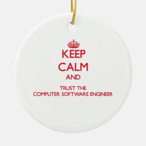 Guarde la calma y confíe en al ingeniero de los pr ornaments para arbol de navidad