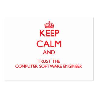 Guarde la calma y confíe en al ingeniero de los pr tarjetas de visita grandes