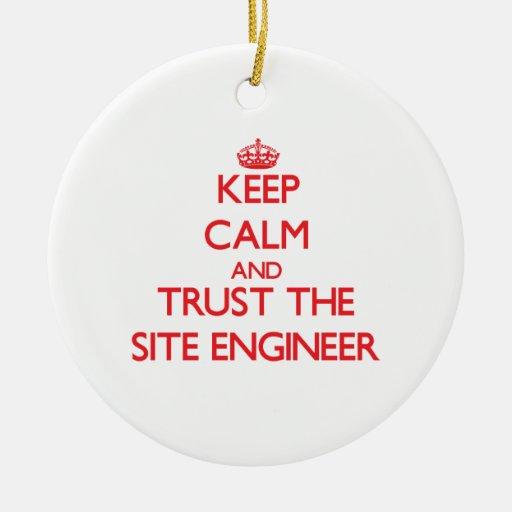 Guarde la calma y confíe en al ingeniero del sitio ornato