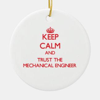 Guarde la calma y confíe en al ingeniero industria ornatos
