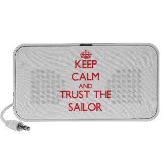 Guarde la calma y confíe en al marinero iPod altavoz