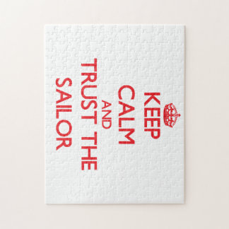 Guarde la calma y confíe en al marinero rompecabezas