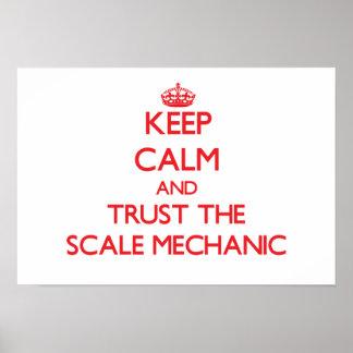 Guarde la calma y confíe en al mecánico de la esca posters