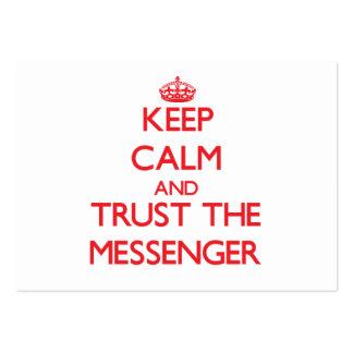Guarde la calma y confíe en al mensajero tarjeta de visita