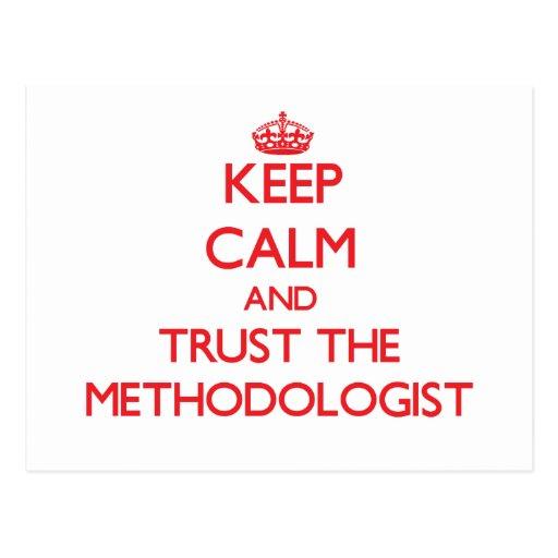 Guarde la calma y confíe en al metodoligista tarjeta postal