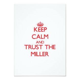 Guarde la calma y confíe en al Miller Comunicado Personalizado