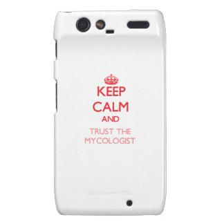 Guarde la calma y confíe en al Mycologist Motorola Droid RAZR Carcasas