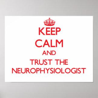 Guarde la calma y confíe en al neurofisiólogo poster