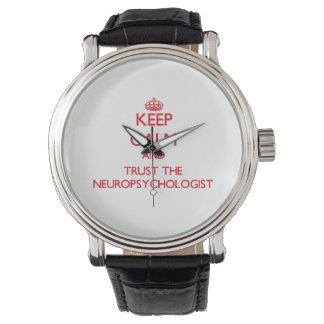 Guarde la calma y confíe en al neuropsicólogo relojes de pulsera