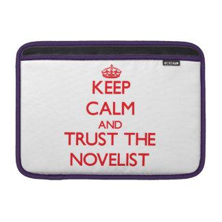 Guarde la calma y confíe en al novelista fundas MacBook