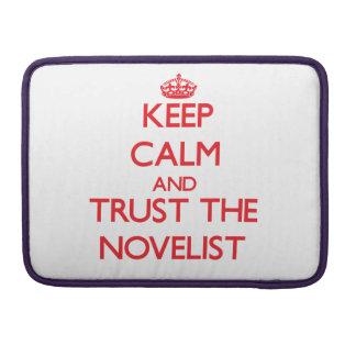 Guarde la calma y confíe en al novelista funda para macbooks