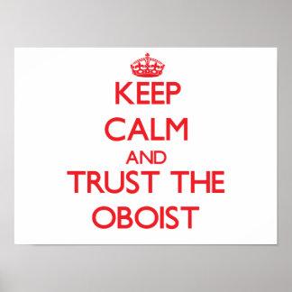 Guarde la calma y confíe en al oboe poster