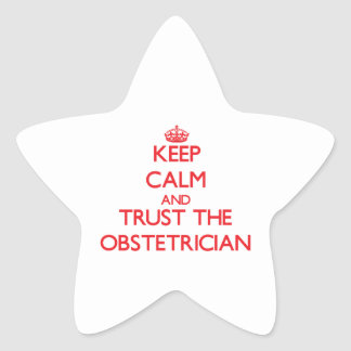 Guarde la calma y confíe en al obstétrico colcomanias forma de estrellaes personalizadas