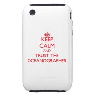 Guarde la calma y confíe en al oceanógrafo iPhone 3 tough carcasas