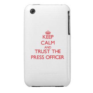 Guarde la calma y confíe en al oficial de la prens iPhone 3 cárcasas