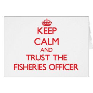 Guarde la calma y confíe en al oficial de las indu tarjeta de felicitación
