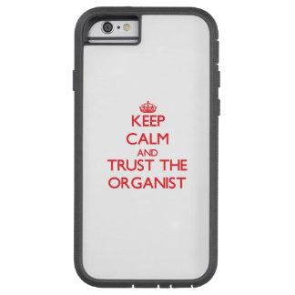 Guarde la calma y confíe en al organista funda de iPhone 6 tough xtreme