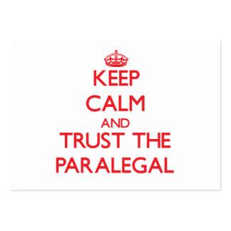 Guarde la calma y confíe en al Paralegal Tarjeta De Visita